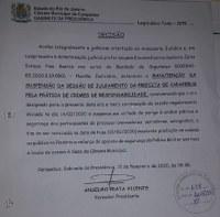 Suspensa sessão da votação pela cassação da prefeita de Carapebus