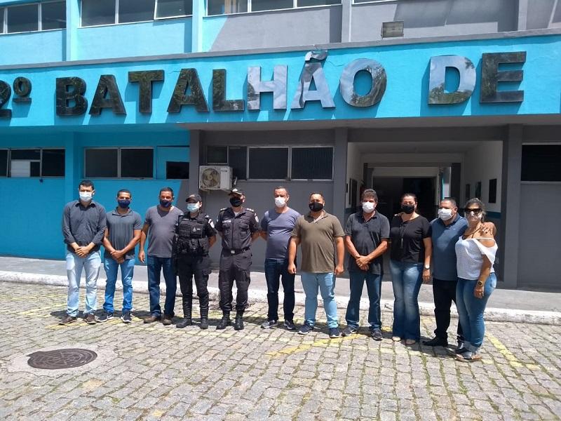 Vereadores e PM analisam nova área para base policial em Carapebus